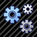 control, gears, settings icon
