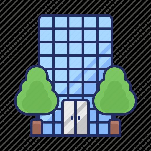 building, estate, office icon