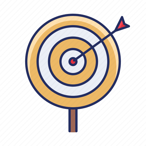 goal, mission, target icon