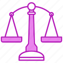balance, justice, law, tool icon