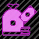 bundle, business, cash, money icon
