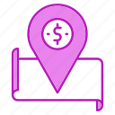 gps, location, map, pin, treasure icon