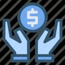 financial, hand, money, saving