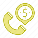 business, call, money, phone icon
