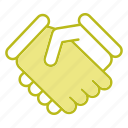 contract, deal, friends, handshake icon