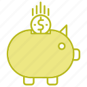 bank, business, piggy, savings icon