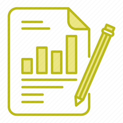 chart, document, file, report icon