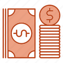 bundle, business, dollar, money icon