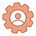 configuration, gear, profile, setting icon