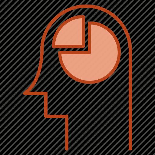 head, mind, report, thinking icon