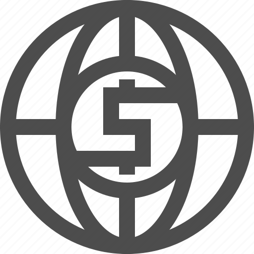 banking, business, dollar, financial, global, money, network icon