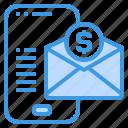 email, marketing, money, online, smartphone icon