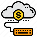 accounting, business, cloud, financial, money icon