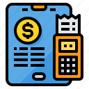 calculator, financial, online, payment, tablet icon