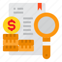business, coins, maginfier, money, paper