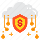 cloud, money, online, security, shield