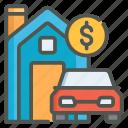 assets, property, vehicle, money
