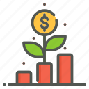 growth, chart, business, management