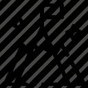 flag, interface, mountain, user icon