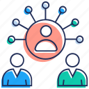 communication, group communication, team collaboration, team discussion, team leader icon