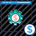 business website, cash management, ebusiness, money management, wealth management icon