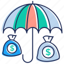 business assurance, business insurance, financial security, protection, safety icon