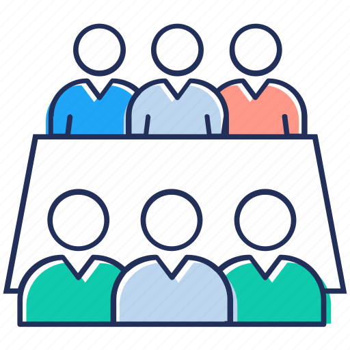 business meeting, conference, convention, forum discussion, seminar, speech icon