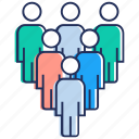 administration, leadership, organization, team, team leader icon