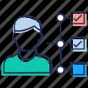 abilities, checklist, checkmark, employee skill, professional skill, questionnaire icon