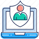 account security, data protection, privacy, profile protection, user security icon