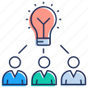 business idea, creative marketing, innovation, marketing idea, marketing strategy icon