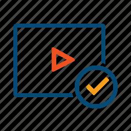 guide, manual, material, multimedia, tips, tricks, tutorial, video, webinar icon