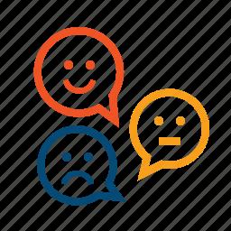 client, feedback, loyalty, mark, opinion, rank, review, satisfaction, satisfied, smiles, status, testimonials icon