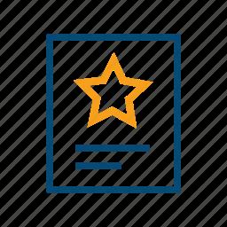 certificate, diploma, gainings, grant, guarantee, guaranty, license, privilege, winner icon