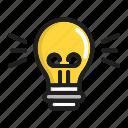 bulb, business, creative, idea, management icon