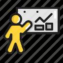 analysis, business, chart, data, finance, graph, presentation icon