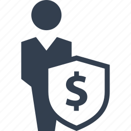 banking, business, currency, dollar, economy, finance, financial, male, man, money, payment, people, person, protection, safe, secure, security, shield, staf icon
