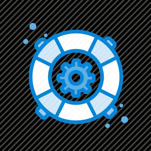 customer, gear, help, seo, service icon