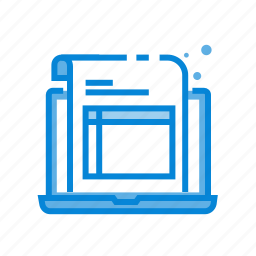 device, digital, invoice, laptop, notebook icon