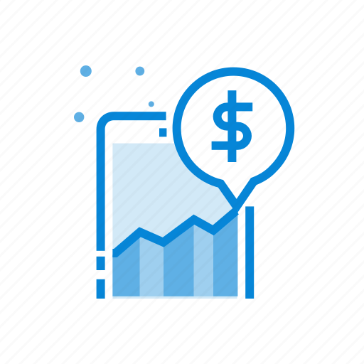 business, marketing, mobile, phone, statistic icon