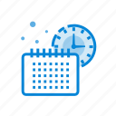 cash, finance, money, planning, schedule, time icon