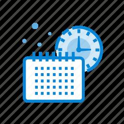 cash, finance, money, planning, schedule, time icon