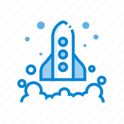 business, report, rocket, seo, startup icon