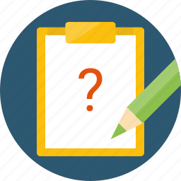 about, faq, form, help, issue, issues, manual, question, questionnaire, quiz, solve icon