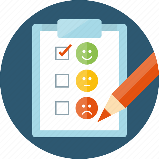 answer, client loyalty, feedback, form, mark, opinion, rank, review, satisfaction, satisfied, smiles, status, survey, take test, test, testimonials, variation, vote, voting icon