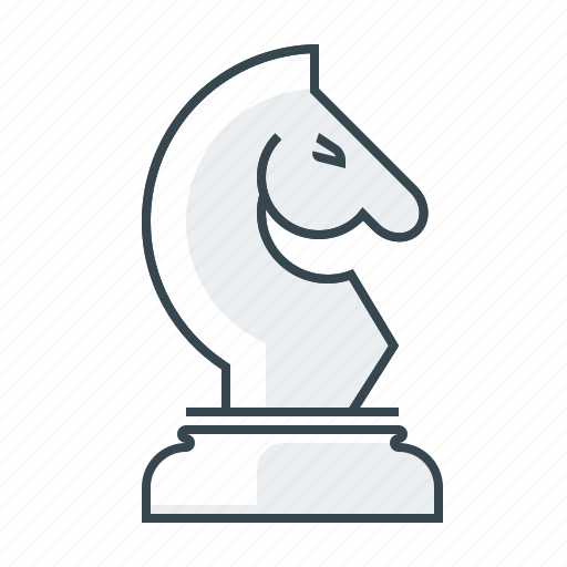 chess, figure, horse, line, shah, strategy, tactics icon