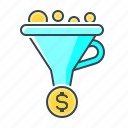 conversion, conversion optimization, funnel, optimization, sales funnel icon