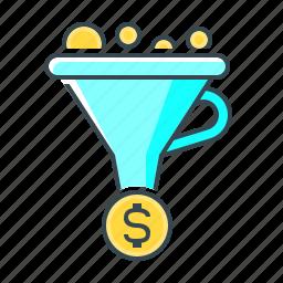 conversion, conversion optimization, funnel, optimization, sales funnel icon