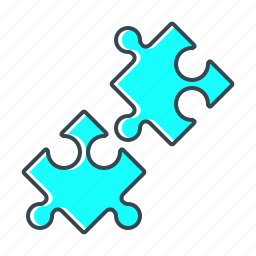 business, detail, game, partners, puzzle, solution icon