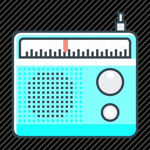 advertising, media, radio, radio advertising, wireless icon